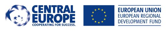 Logo Central Europe Cooperating for success a EU - European regional development fund